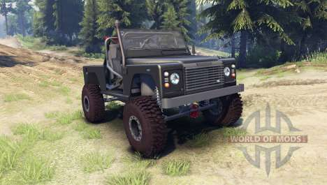 Land Rover Defender 90 [open top] for Spin Tires