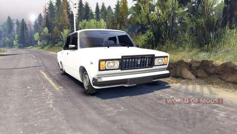 VAZ-2107 for Spin Tires