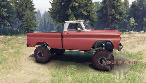 Chevrolet С-10 1966 Custom two tone aztec bronze for Spin Tires