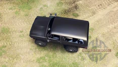 Chevrolet K5 Blazer 1975 [final] [black] for Spin Tires