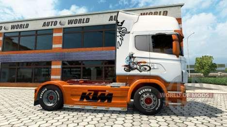 KTM skin for Scania truck for Euro Truck Simulator 2