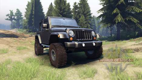 Jeep Wrangler black for Spin Tires