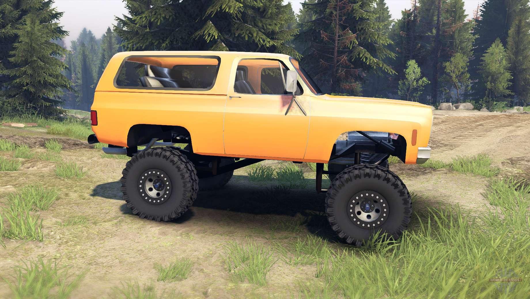 Chevy Blazer 2015 >> Chevrolet K5 Blazer 1975 [final] [orange] for Spin Tires