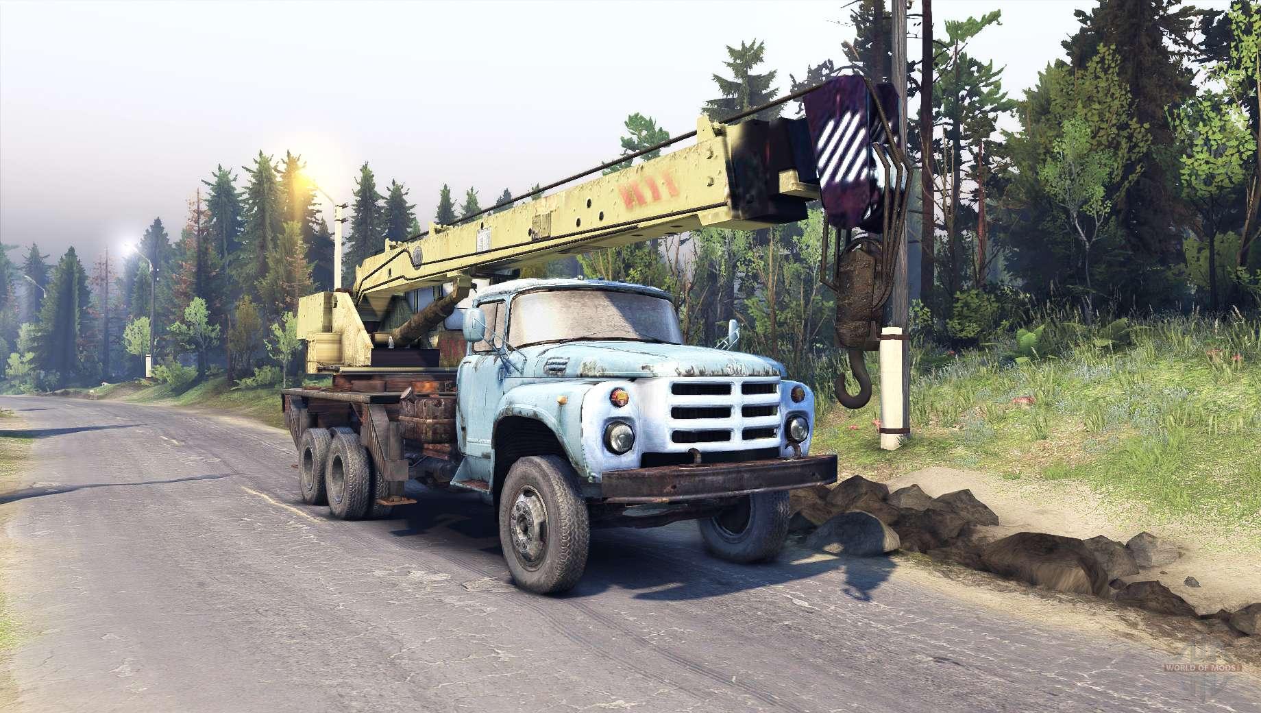 мод грузовик зил-133 автокран кс3575 для spin tires 2013 dev demo