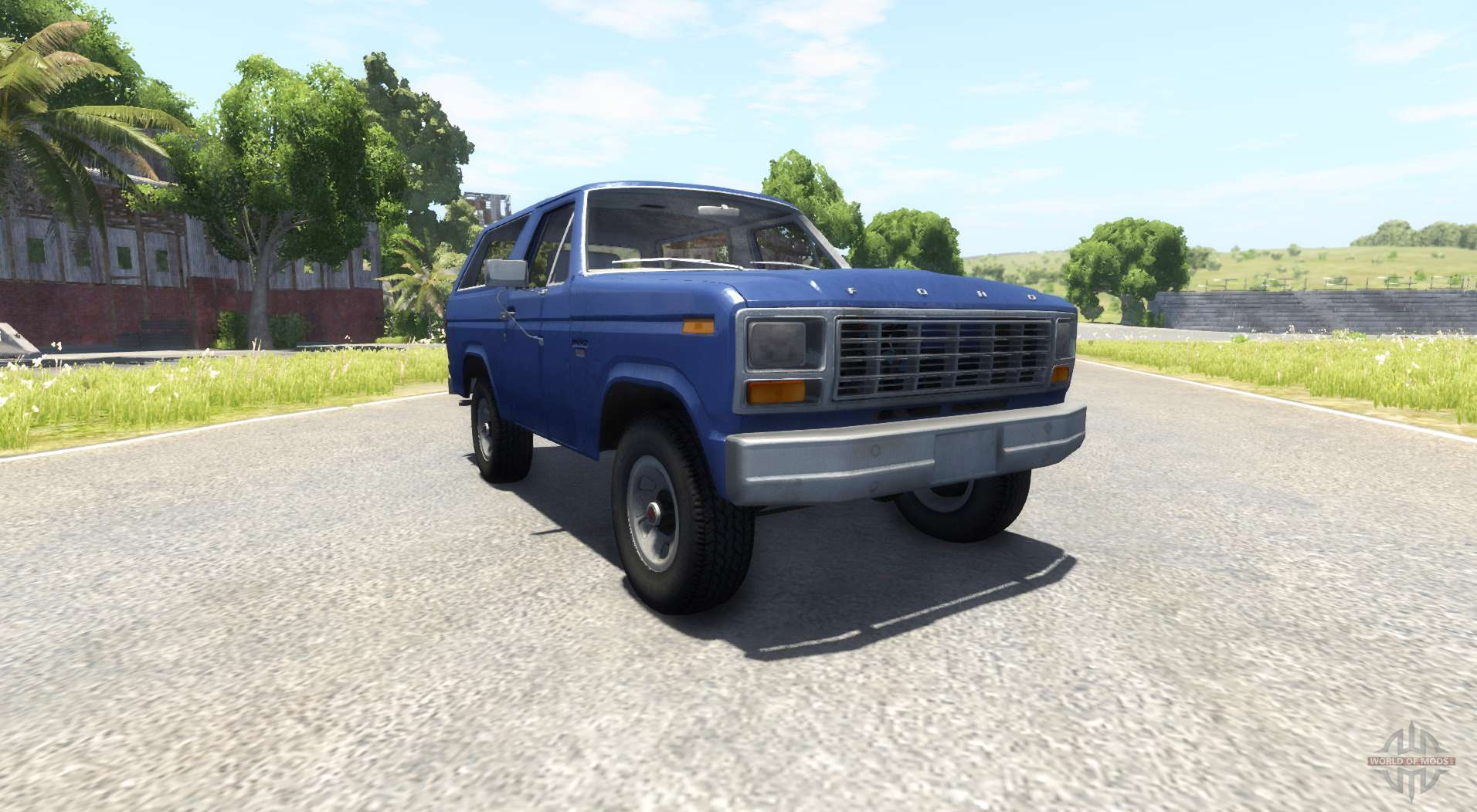 Ford Bronco 1980 For Beamng Drive Front Axle