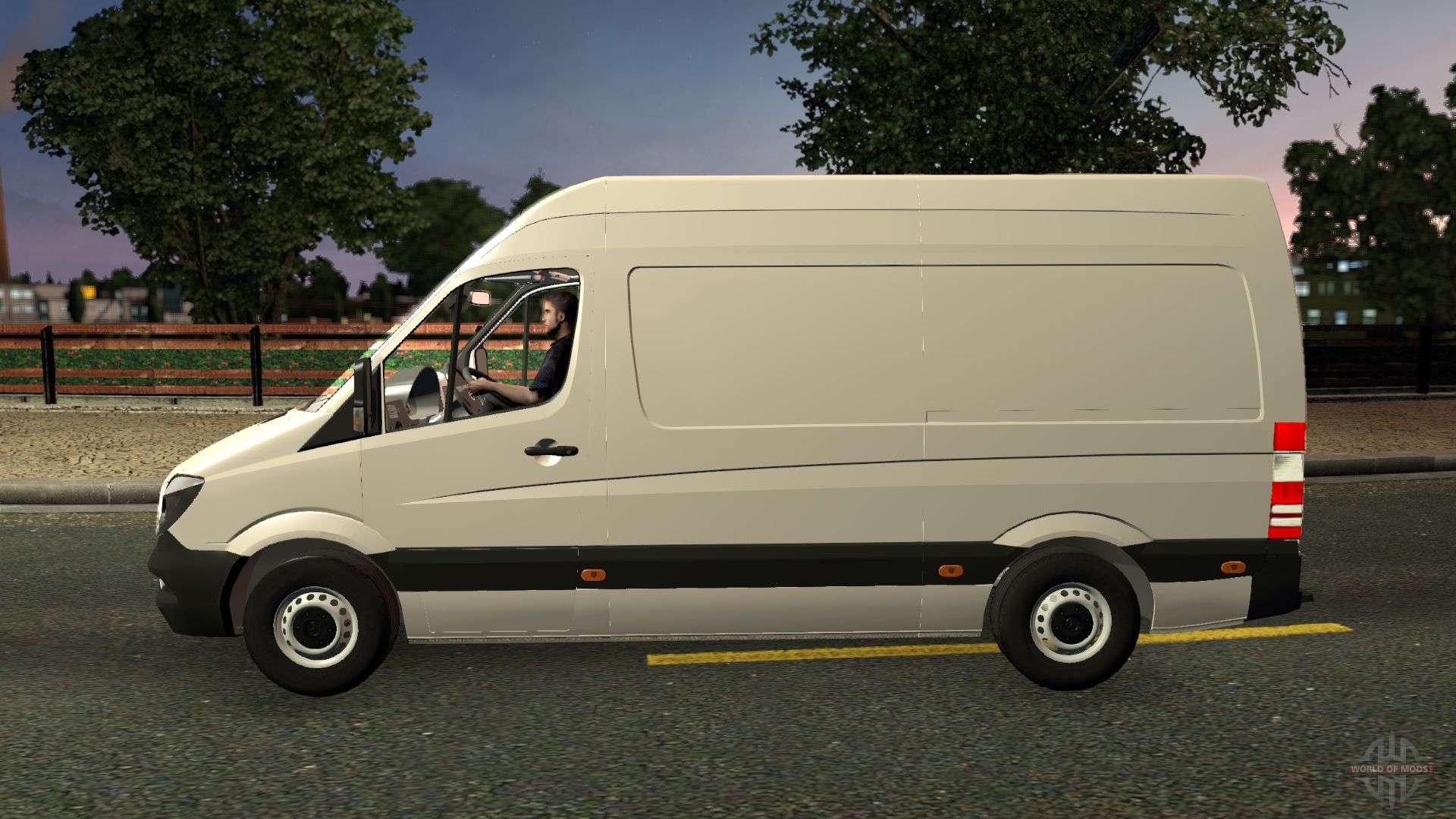 mercedes benz sprinter cdi311 2014 for euro truck simulator 2. Black Bedroom Furniture Sets. Home Design Ideas