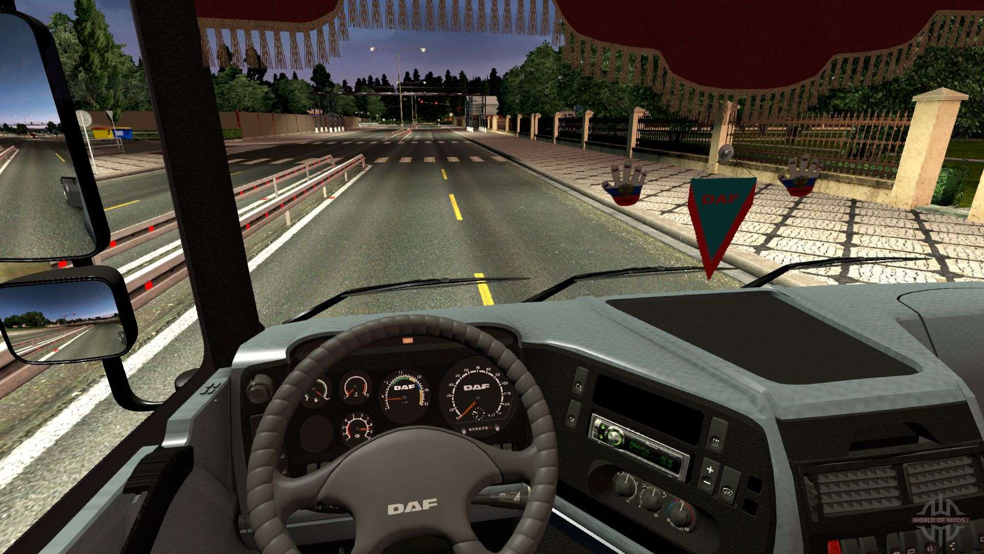 daf 95xf spacecab interior for euro truck simulator 2. Black Bedroom Furniture Sets. Home Design Ideas