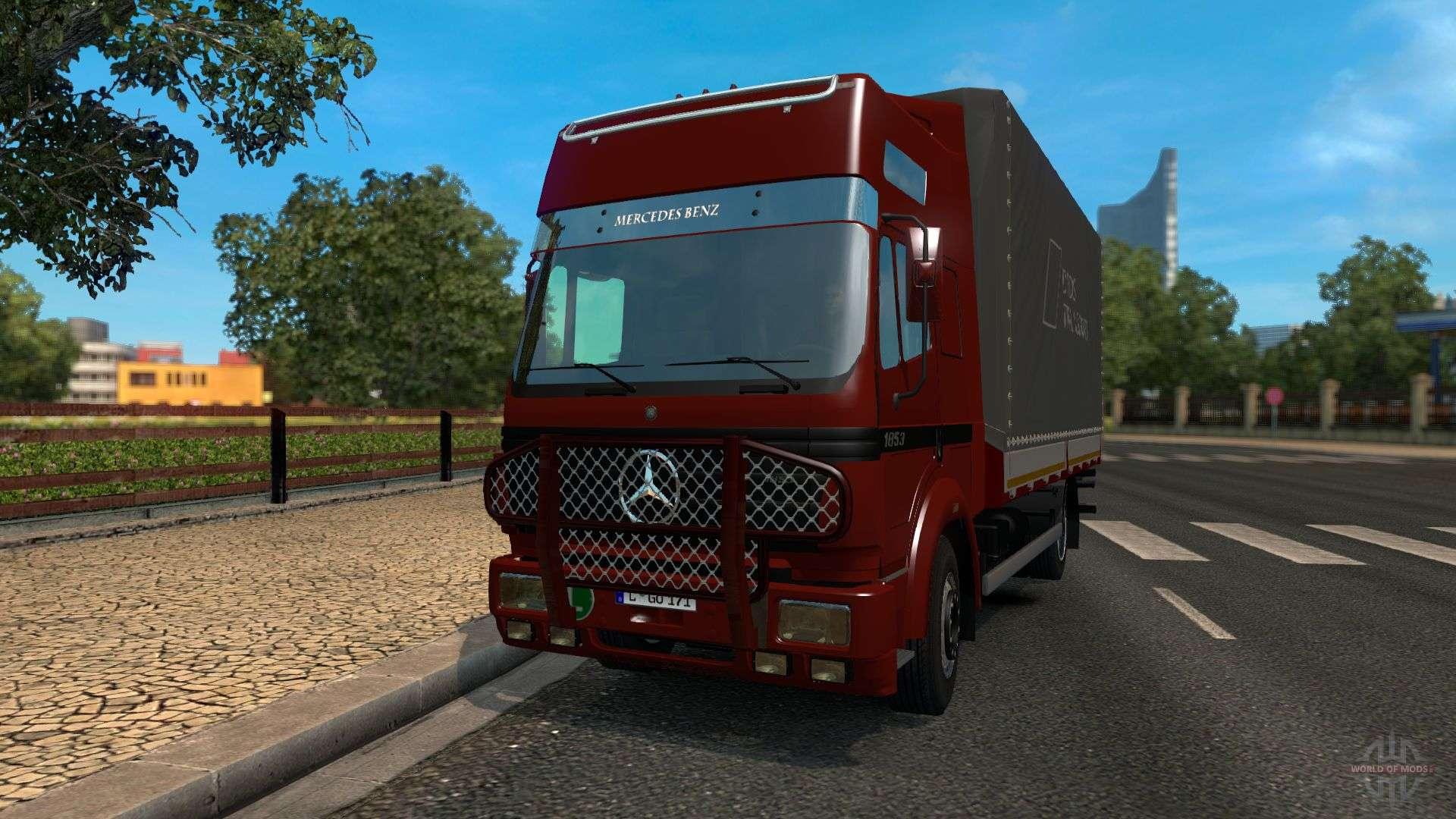 Моды на грузовики в евро трек симулятор 2