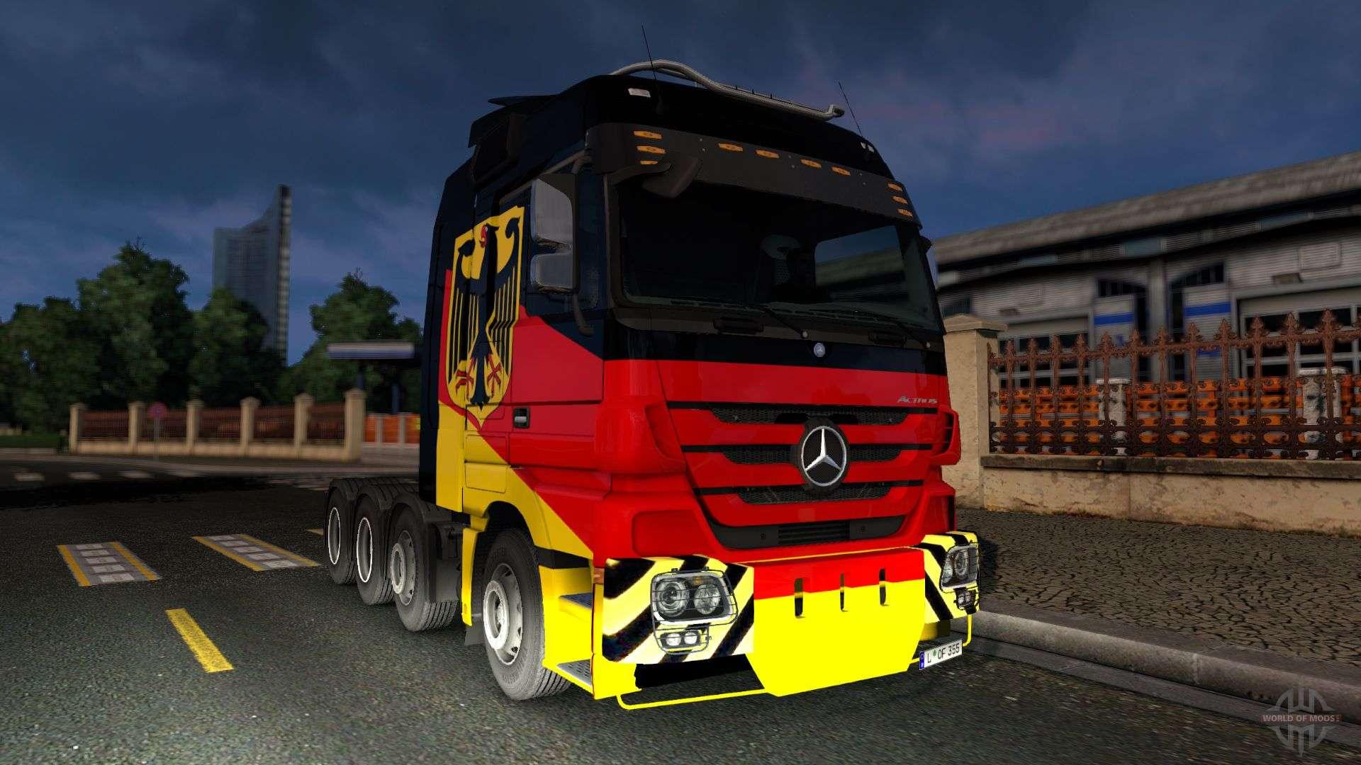 mercedes benz actros 4160 slt 8x4 titan for euro truck. Black Bedroom Furniture Sets. Home Design Ideas