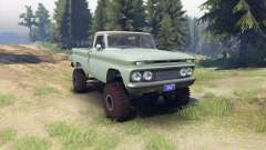 Chevrolet С-10 1966 Custom two tone willow green