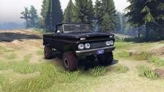 Chevrolet С-10 1966 Custom tuxedo black for Spin Tires