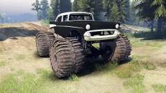Chevrolet Bel Air 1955 Monster black