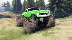 Chevrolet Bel Air 1955 Monster green for Spin Tires