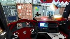 Red interior Scania