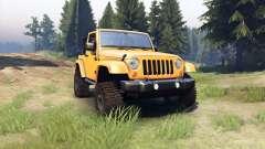 Jeep Wrangler orange for Spin Tires