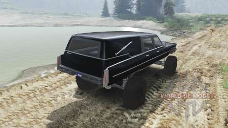 Cadillac Hearse 1975 [monster] [black mass] for Spin Tires