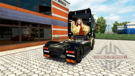 Skin Sticker Bombs on the tractor unit Scania for Euro Truck Simulator 2