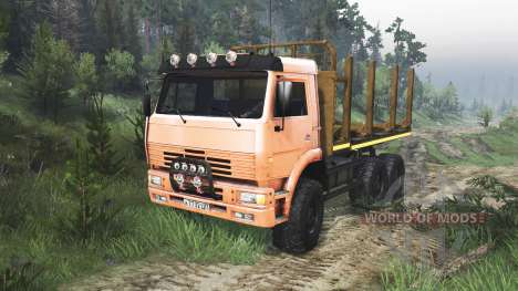 KamAZ-6520 [orange] [08.11.15] for Spin Tires