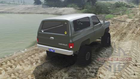 Chevrolet K5 Blazer 1975 [army green] [23.10.15] for Spin Tires