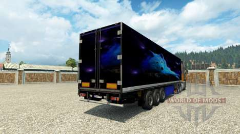 Skin of the Wolf trailer for Euro Truck Simulator 2