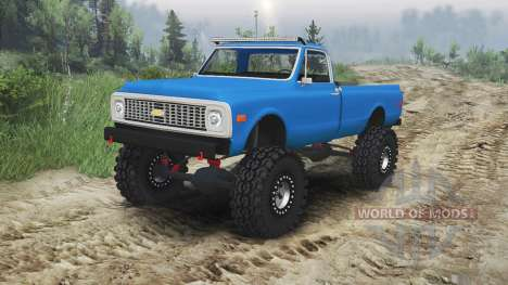 Chevrolet C10 Cheyenne 1972 [blue] for Spin Tires