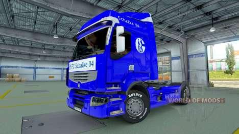 Schalke 04 skin for Renault truck for Euro Truck Simulator 2