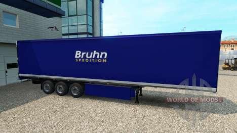 Skin Bruhn on the trailer for Euro Truck Simulator 2