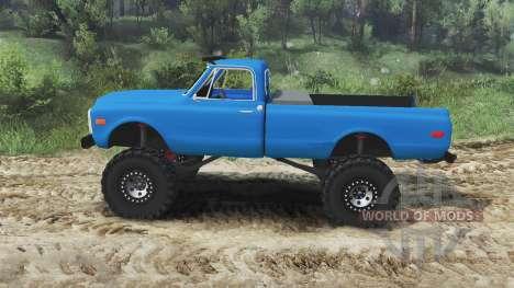 Chevrolet C10 Cheyenne 1972 [blue] for Spin Tires
