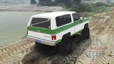 Chevrolet K5 Blazer 1975 [green and white] for Spin Tires