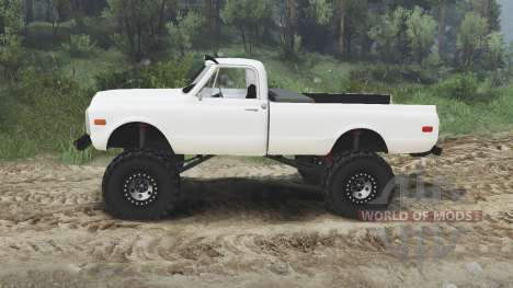 Chevrolet C10 Cheyenne 1972 [white] for Spin Tires