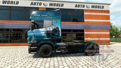 Black Pearl skin for Scania truck for Euro Truck Simulator 2