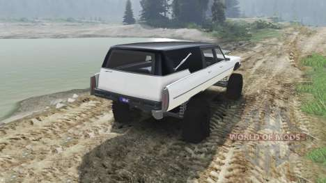 Cadillac Hearse 1975 [monster] [pale white] for Spin Tires