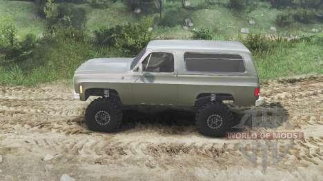 Chevrolet K5 Blazer 1975 [army green] [23.10.15] for Spin Tires
