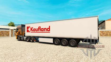Skin Kaufland on the trailer for Euro Truck Simulator 2