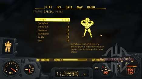 Max S.P.E.C.I.A.L. cheat for Fallout 4