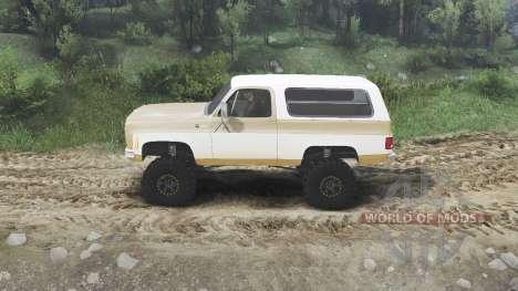Chevrolet K5 Blazer 1975 [light saddle n white] for Spin Tires