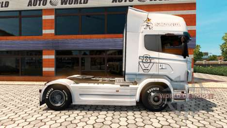 Skin Vabis Group Trans to the towing vehicle Sca for Euro Truck Simulator 2