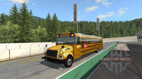 Blue Bird American School Bus v2.1 for BeamNG Drive