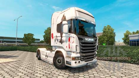 Assassins Creed skin for Scania truck for Euro Truck Simulator 2