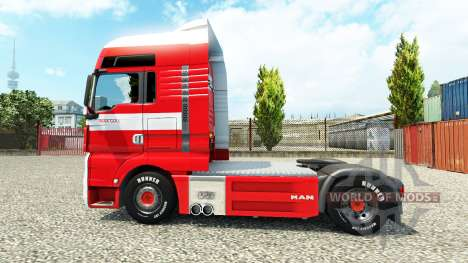 Skin Max Goll on the truck MAN for Euro Truck Simulator 2