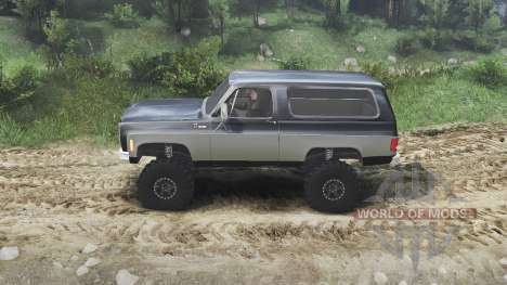Chevrolet K5 Blazer 1975 [black and silver] for Spin Tires