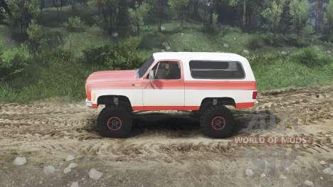 Chevrolet K5 Blazer 1975 [orange and white] for Spin Tires