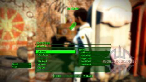 Craftable ammunition for Fallout 4