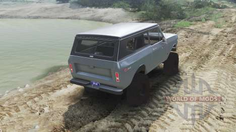 International Scout II 1977 [agent silver] for Spin Tires