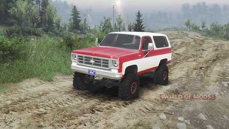 Chevrolet K5 Blazer 1975 [red and white] for Spin Tires
