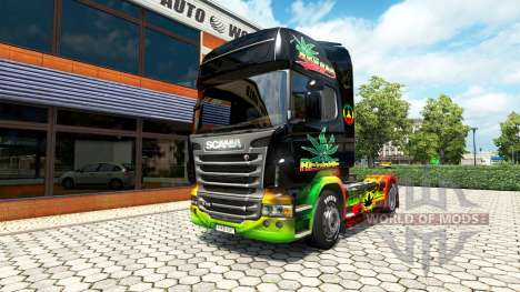 Reggae skin for Scania truck for Euro Truck Simulator 2
