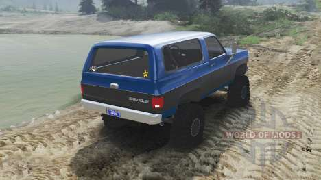 Chevrolet K5 Blazer 1975 [blue and black] for Spin Tires
