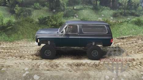 Chevrolet K5 Blazer 1975 [black and blue] for Spin Tires