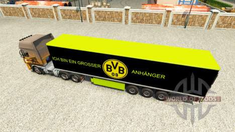 BVB skin for the trailer for Euro Truck Simulator 2