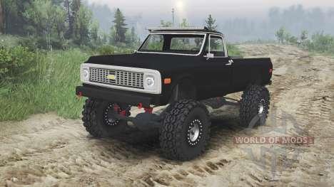 Chevrolet C10 Cheyenne 1972 [black] for Spin Tires